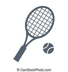 tenis, wektor, ikona