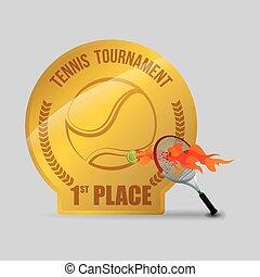tenisz, design., sport, icon., elszigetelt, ábra, editable, vektor