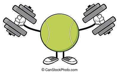 tenisz, félcédulások, ismeretlen, labda