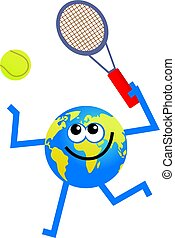 tenisz, földgolyó