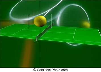 tenisz, labda, ruganyosság