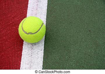 teniszlabda, képben látható, a, egyenes