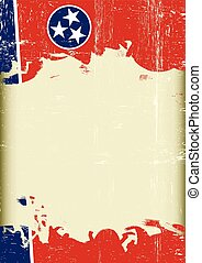 Tennesse Flag grunge background - Scratched Tennessee Flag....