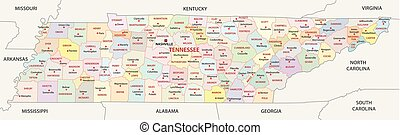 tennessee administrative map