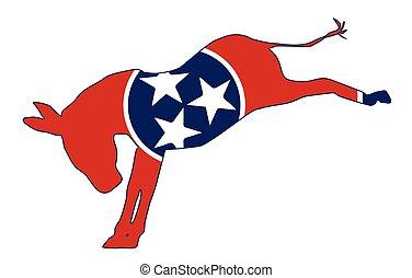 Tennessee Democrat Donkey Flag