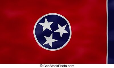 Tennessee US dense flag fabric wavers, perfect loop for background