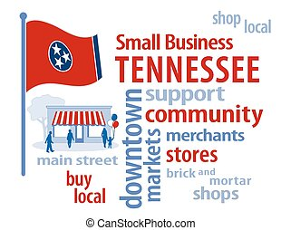 tennessee drapeau, business, petit