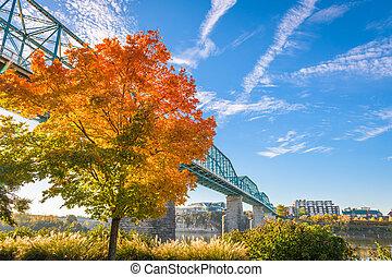 tennessee, estação, chattanooga, eua, outono
