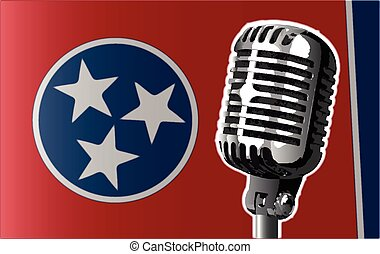 Tennessee Flag And Microphone