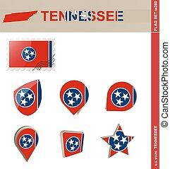 Tennessee Flag Set, Flag Set #280