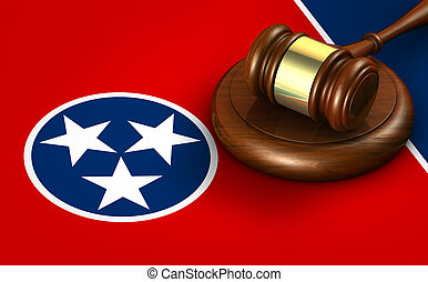 Tennessee Legal System And Law Concept - Tennessee US state...