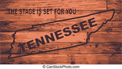 Tennessee Map Brand