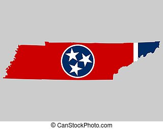 Tennessee Map Flag Vector illustration Eps 10