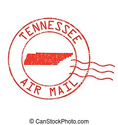Tennessee post office, air mail stamp