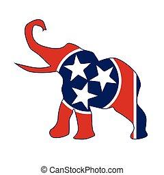 Tennessee Republican Elephant Flag