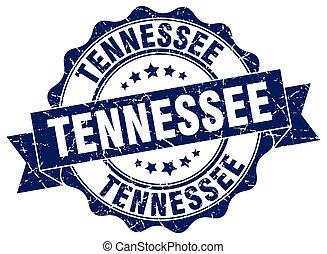tennessee, rond, ruban, cachet