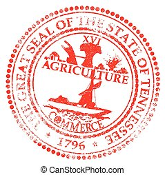 Tennessee Seal Rubber Stamp