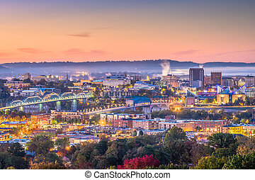 tennessee, skyline, chattanooga, eua