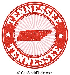 Tennessee stamp - Grunge rubber stamp with the name and map ...