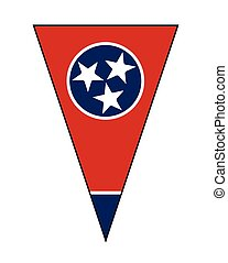 Tennessee State Flag As Bunting Triangle