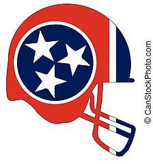 Tennessee State Flag Football Helmet