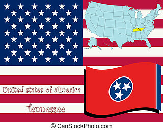 tennessee state illustration, abstract vector art