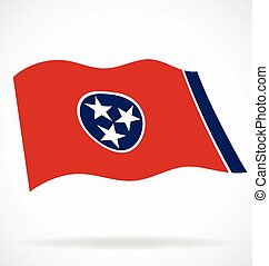 tennessee tn state flag flying vector
