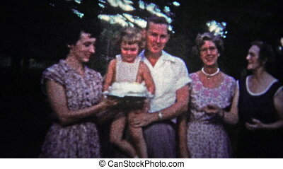 TENNESSEE, USA - 1954: Childs birthday - Unique vintage 8mm...