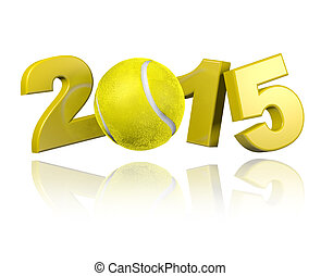 Tennis 2015 design with a White Background