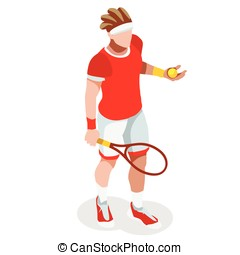 Tennis 2016 Sports 3D Isometric Vector Illustration