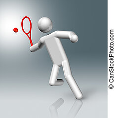 Tennis 3D symbol, Olympic sports