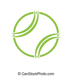 Tennis abstract symbol outline background