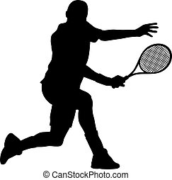 Abstract vector illustration of tenis-player