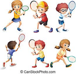 tennis, acties