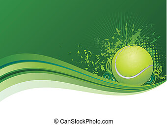 tennis design elements, green background