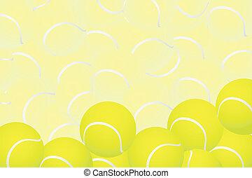 Tennis background - Tennis vector illustration (some tennis ...