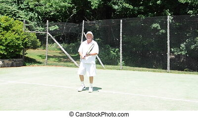 tennis backhand demonstration