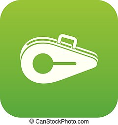 Tennis bag icon digital green