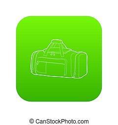 Tennis bag icon green