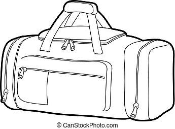 Tennis bag icon outline