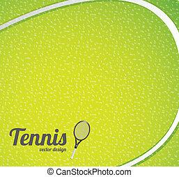 tennis, bakgrund, boll