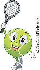 tennis bal, mascotte