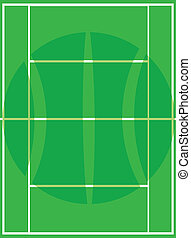 tennis bal, pictogram