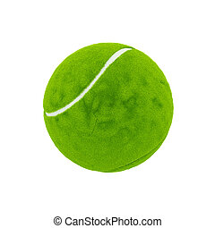 Tennis ball - 3d render green tennis ball isolated on white...