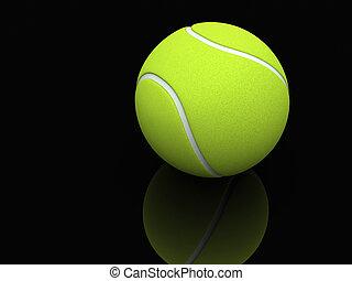 A lawn tennis ball - 3d render