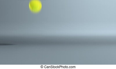 tennis ball bouncing fast