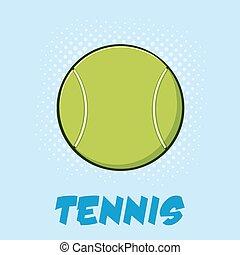 Tennis Ball Cartoon With Text