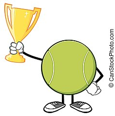 Tennis Ball Faceless Holding A Cup