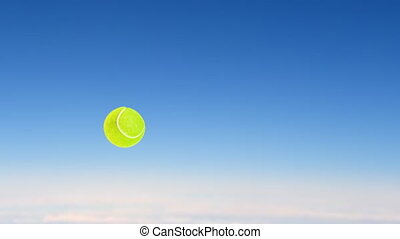 tennis ball fly up high