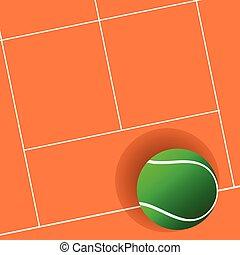 tennis ball green on court illustration